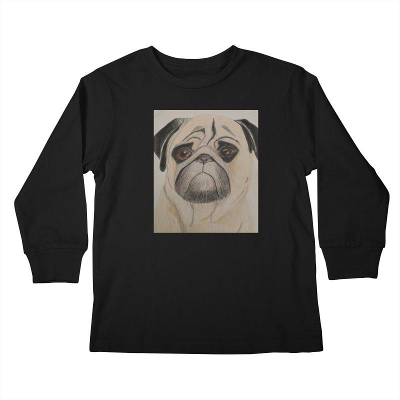 Pug Kids Longsleeve T-Shirt by Whimsical Wildlife Wares