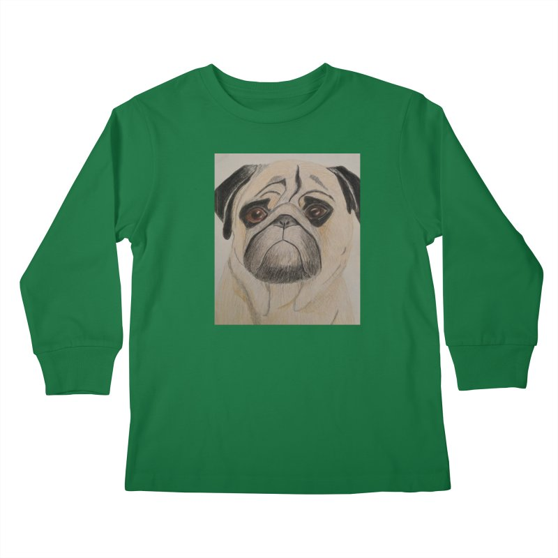 Pug Kids Longsleeve T-Shirt by Whimsical Wildlife Wares