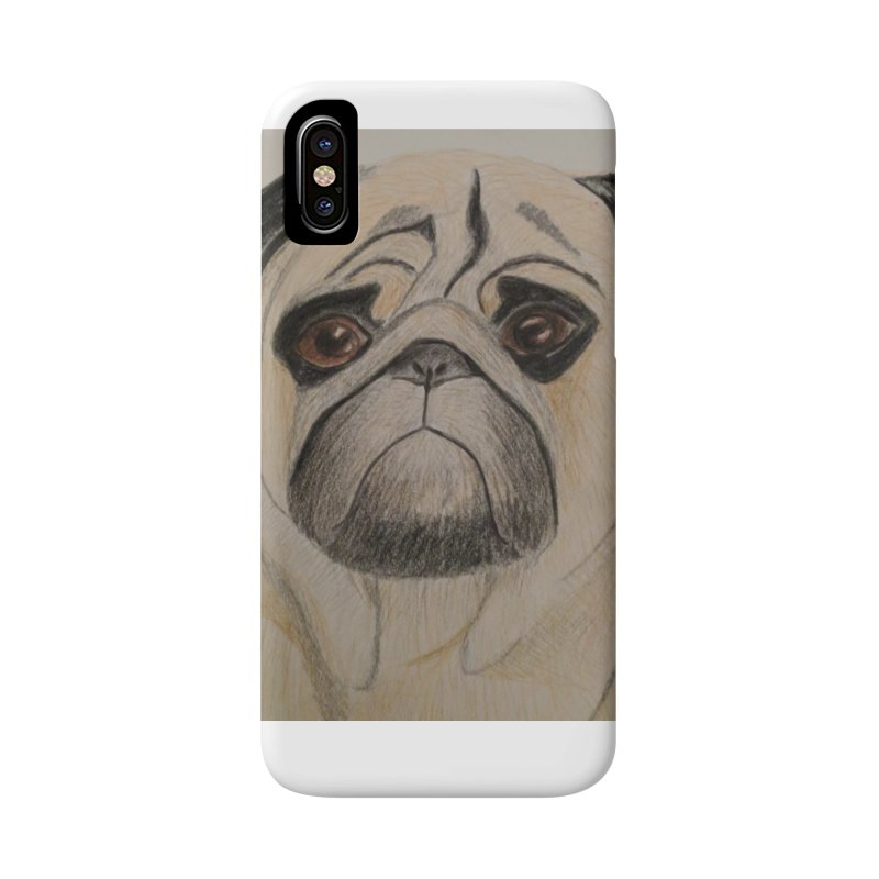 Pug Accessories Phone Case by Whimsical Wildlife Wares