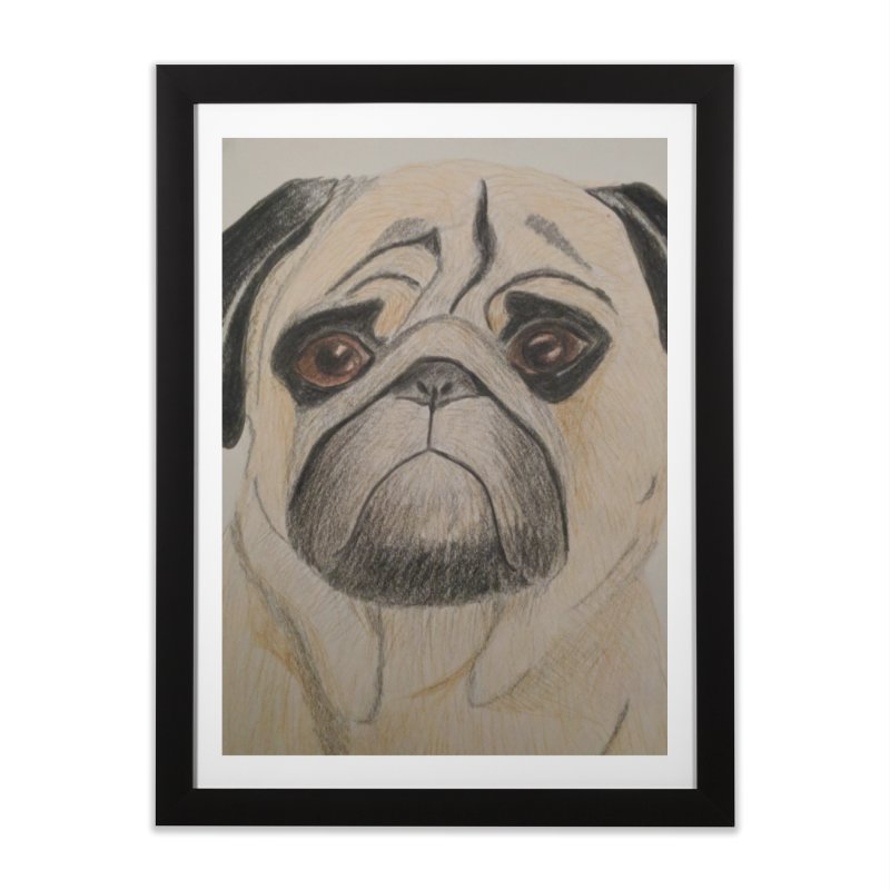 Pug Home Framed Fine Art Print by Whimsical Wildlife Wares