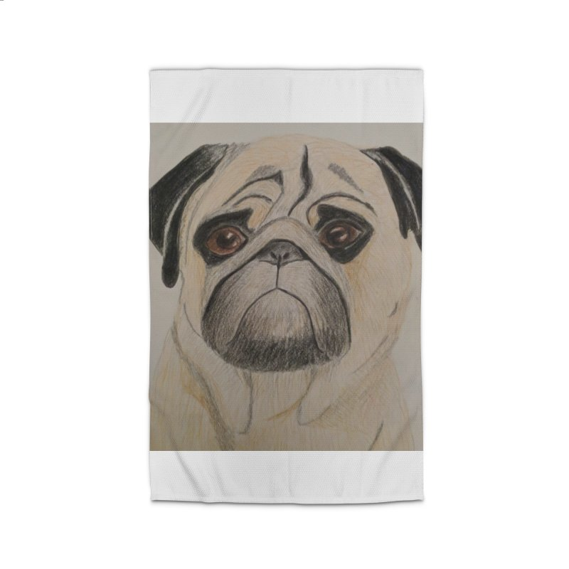 Pug Home Rug by Whimsical Wildlife Wares