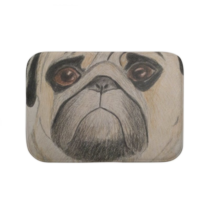 Pug Home Bath Mat by Whimsical Wildlife Wares