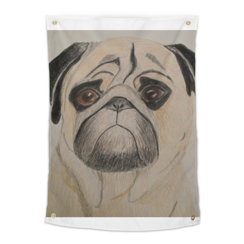 Pug Home Tapestry by Whimsical Wildlife Wares