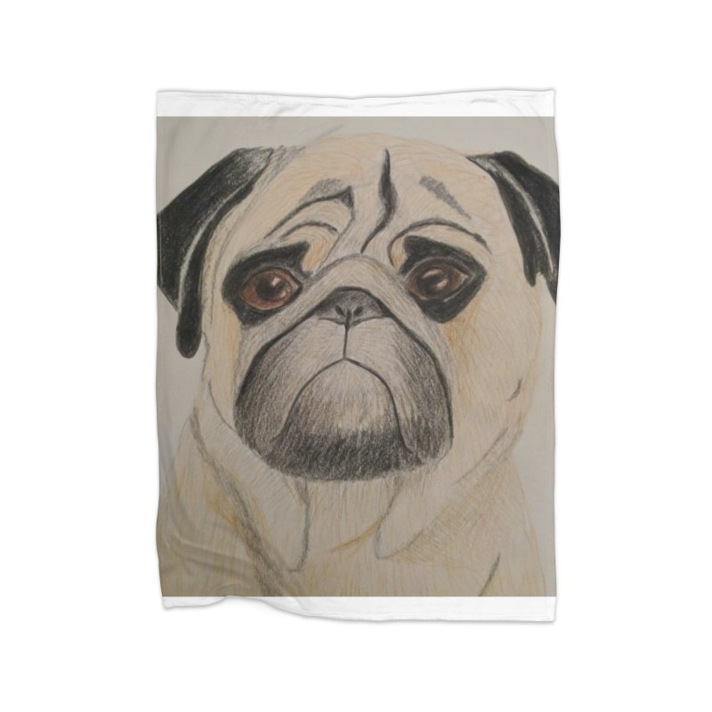 Pug Home Blanket by Whimsical Wildlife Wares