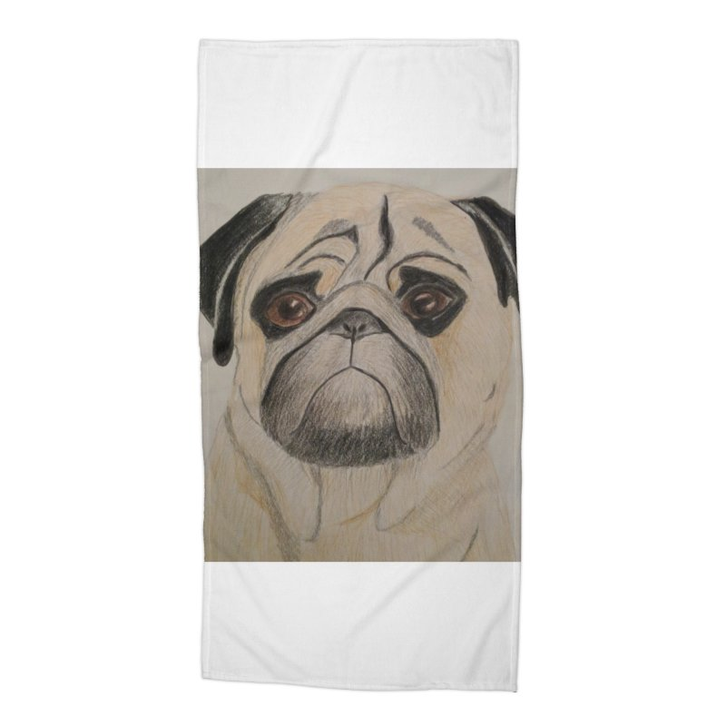 Pug Accessories Beach Towel by Whimsical Wildlife Wares