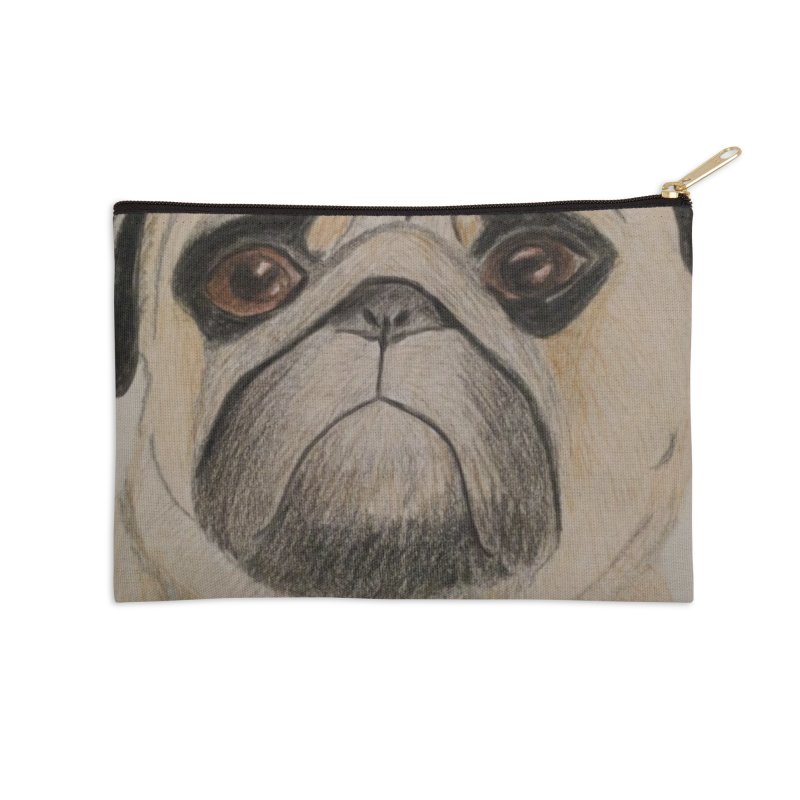 Pug Accessories Zip Pouch by Whimsical Wildlife Wares