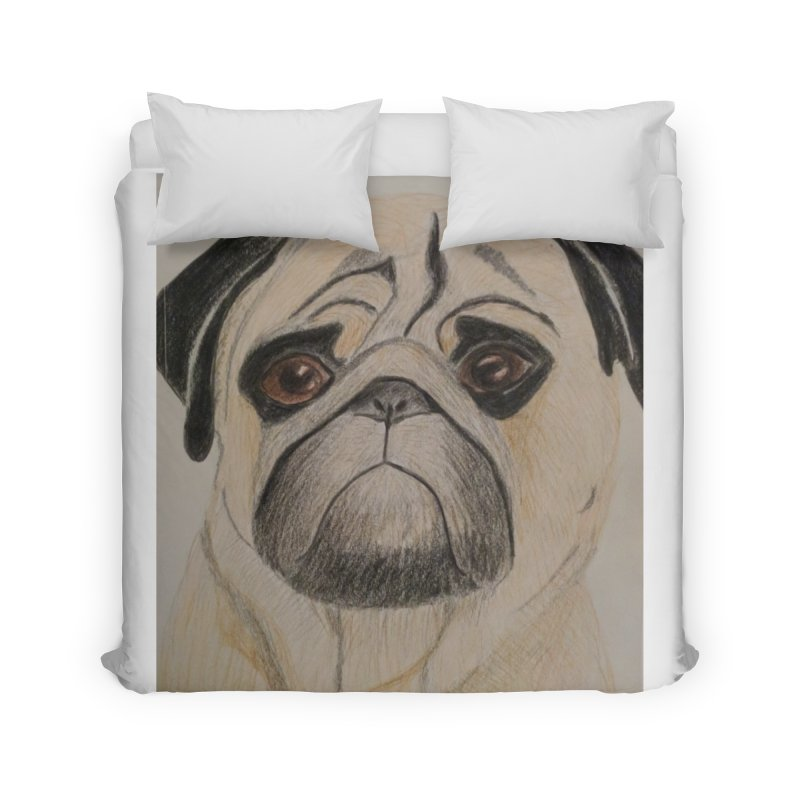 Pug Home Duvet by Whimsical Wildlife Wares