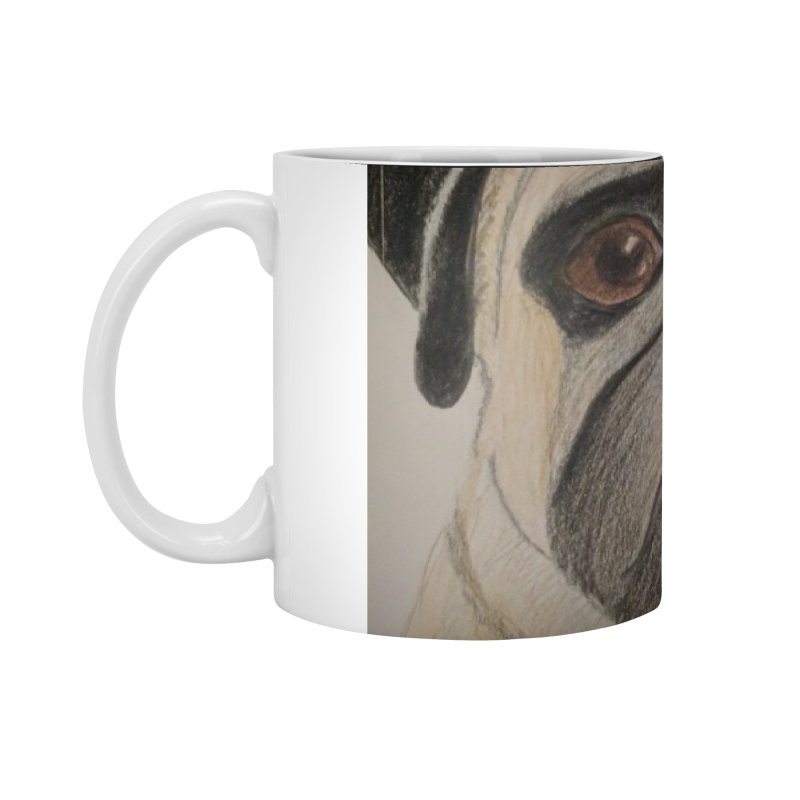 Pug Accessories Mug by Whimsical Wildlife Wares