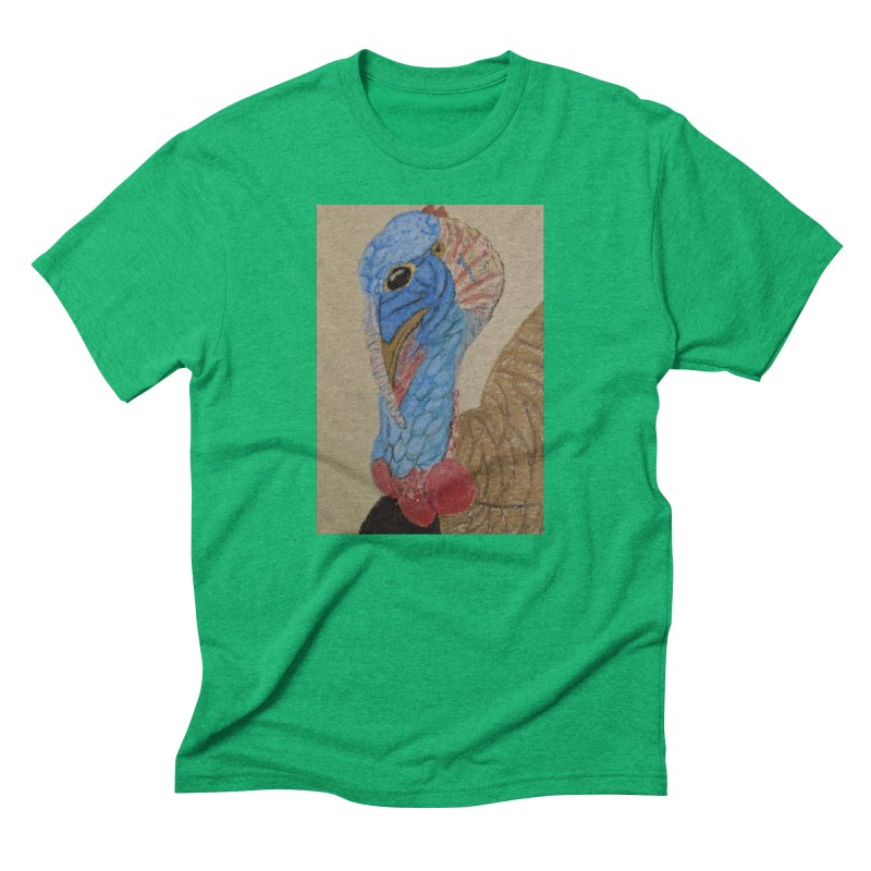Turkey Men's Triblend T-Shirt by Whimsical Wildlife Wares