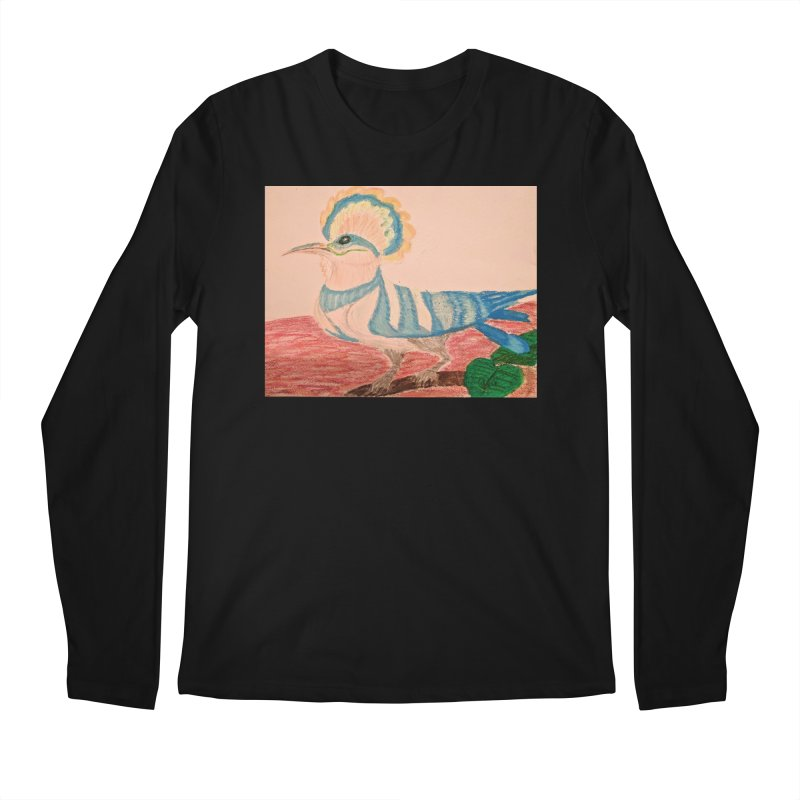 River Hoopoe Men's Longsleeve T-Shirt by Whimsical Wildlife Wares