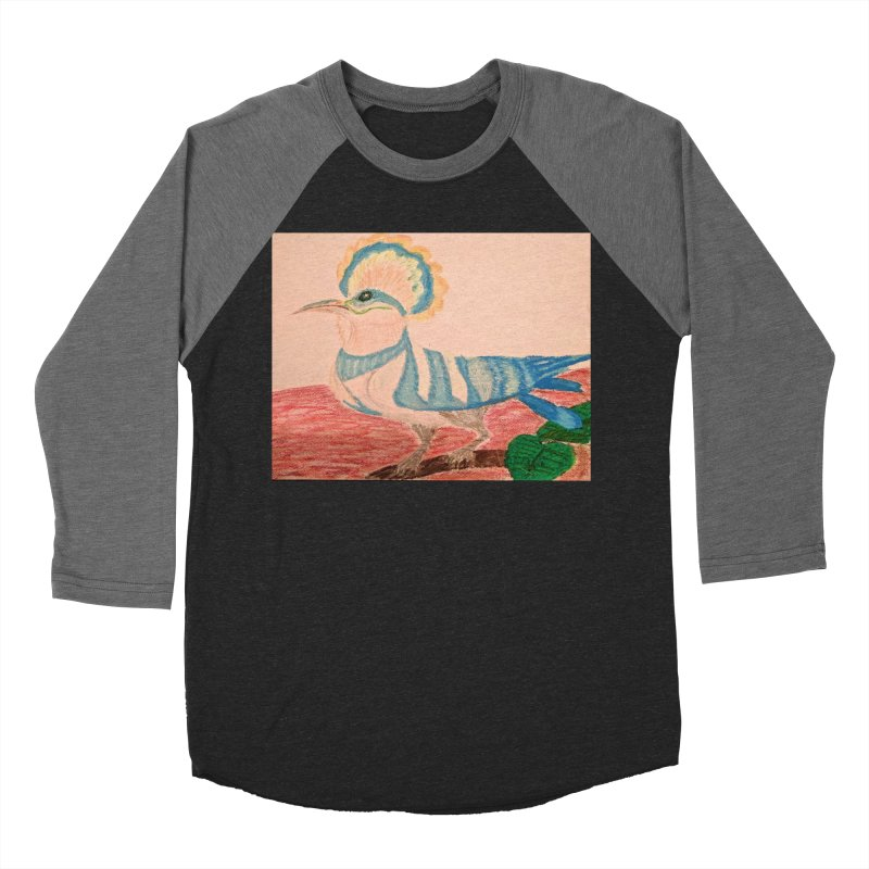 River Hoopoe Men's Baseball Triblend T-Shirt by Whimsical Wildlife Wares