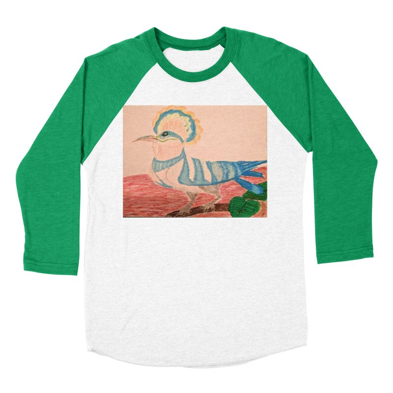 River Hoopoe Men's Baseball Triblend T-Shirt by Whimsical Wildlife Wares
