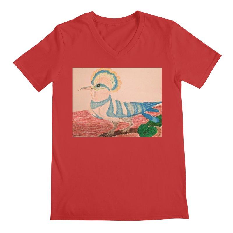River Hoopoe Men's V-Neck by Whimsical Wildlife Wares