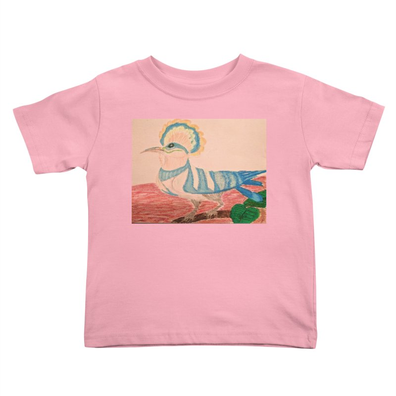 River Hoopoe Kids Toddler T-Shirt by Whimsical Wildlife Wares