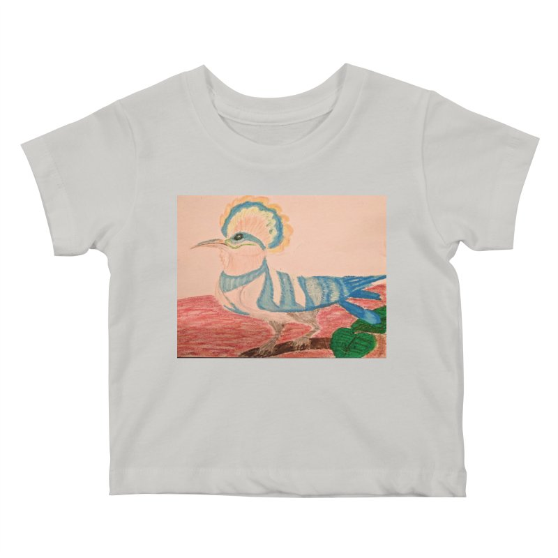 River Hoopoe Kids Baby T-Shirt by Whimsical Wildlife Wares