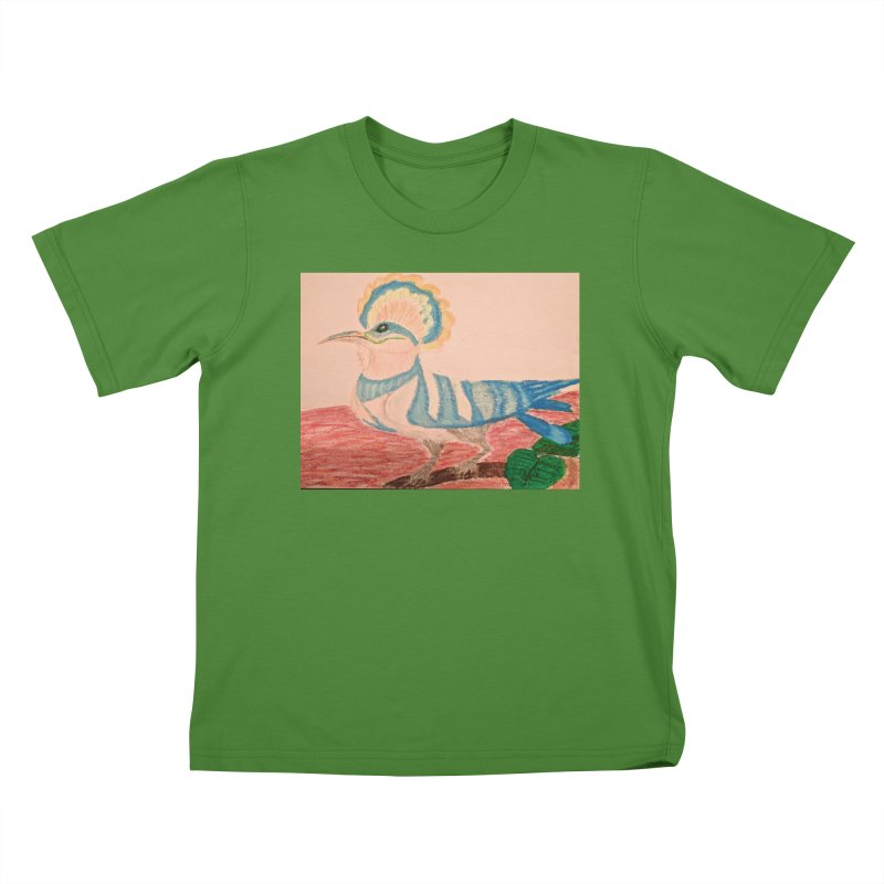 River Hoopoe Kids T-Shirt by Whimsical Wildlife Wares