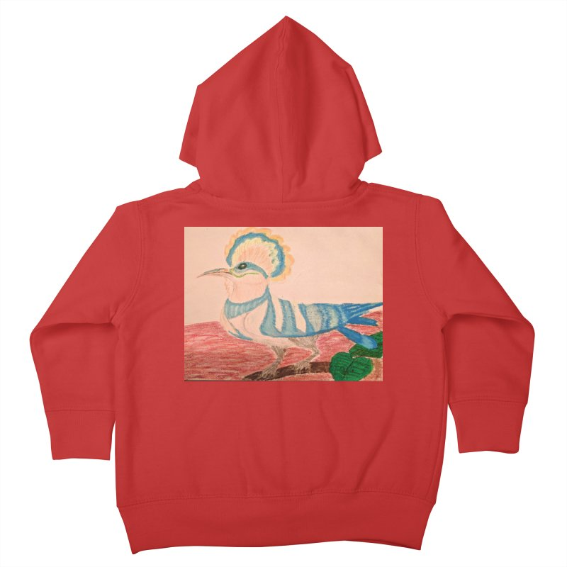River Hoopoe Kids Toddler Zip-Up Hoody by Whimsical Wildlife Wares