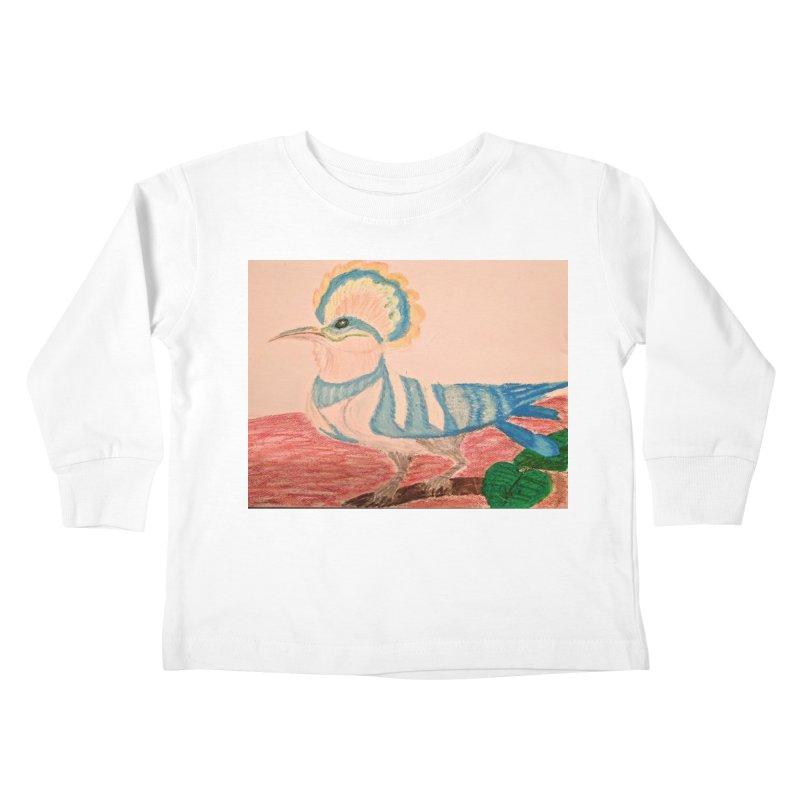 River Hoopoe Kids Toddler Longsleeve T-Shirt by Whimsical Wildlife Wares