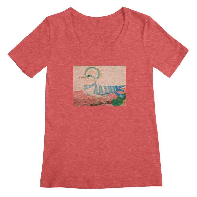 River Hoopoe Women's Scoopneck by Whimsical Wildlife Wares