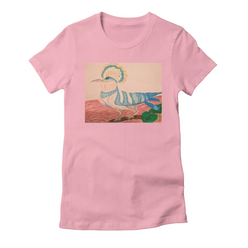 River Hoopoe Women's Fitted T-Shirt by Whimsical Wildlife Wares