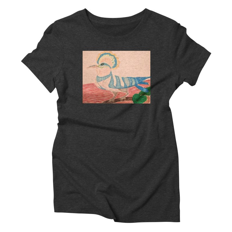 River Hoopoe Women's Triblend T-Shirt by Whimsical Wildlife Wares