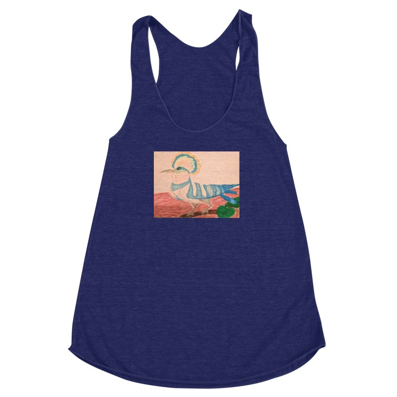 River Hoopoe Women's Racerback Triblend Tank by Whimsical Wildlife Wares