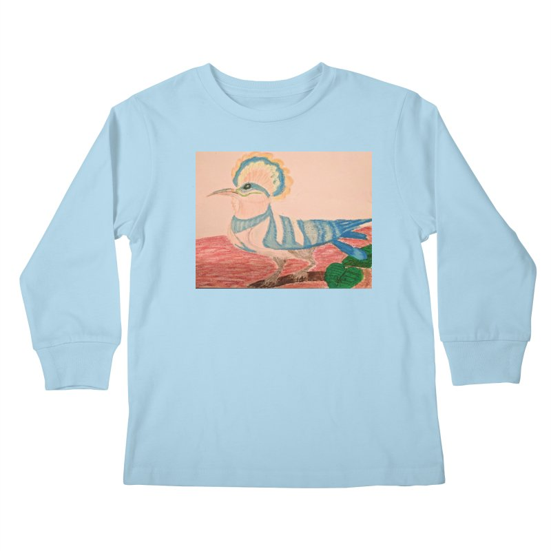 River Hoopoe Kids Longsleeve T-Shirt by Whimsical Wildlife Wares