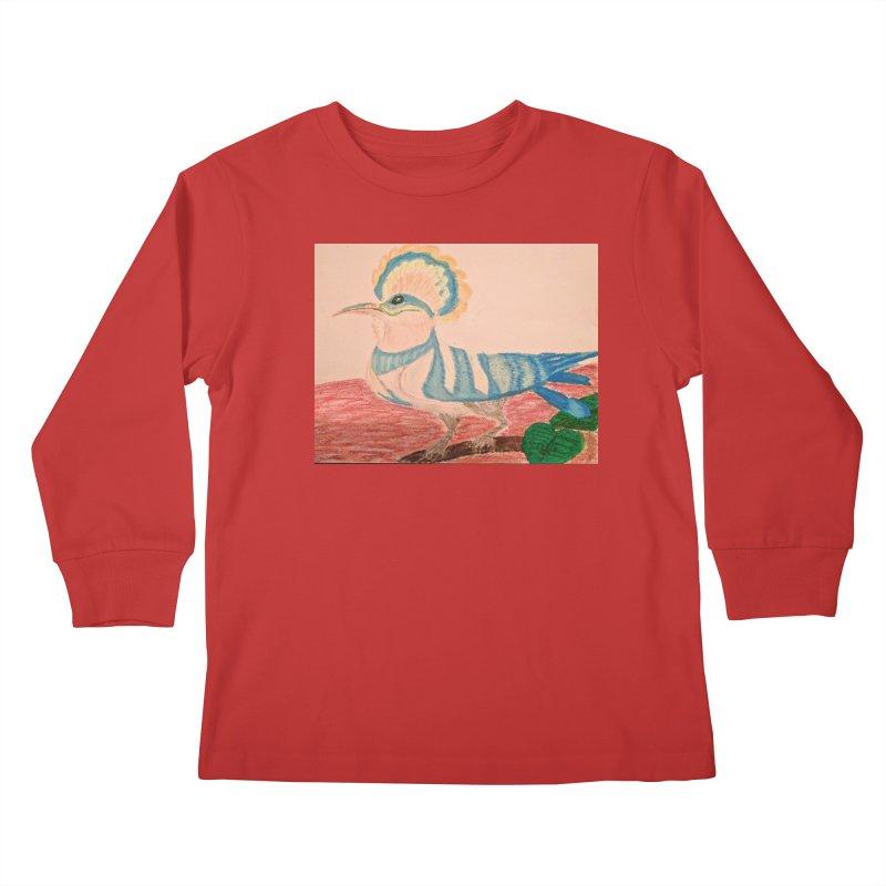 River Hoopoe Kids Longsleeve T-Shirt by Whimsical Wildlife Wares