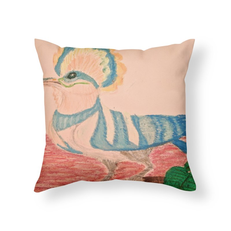River Hoopoe Home Throw Pillow by Whimsical Wildlife Wares