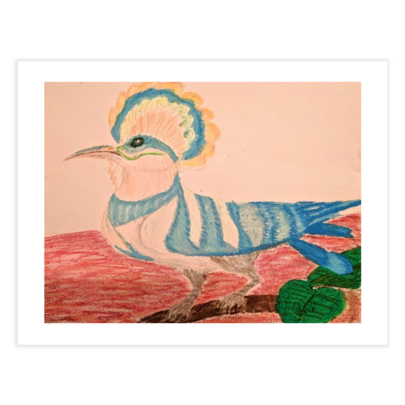 River Hoopoe Home Fine Art Print by Whimsical Wildlife Wares