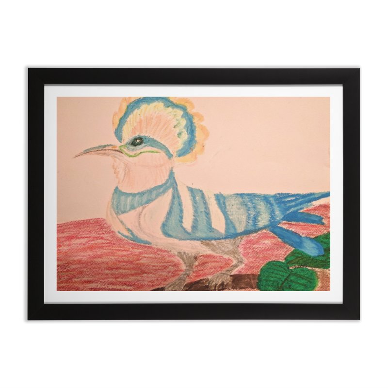 River Hoopoe Home Framed Fine Art Print by Whimsical Wildlife Wares