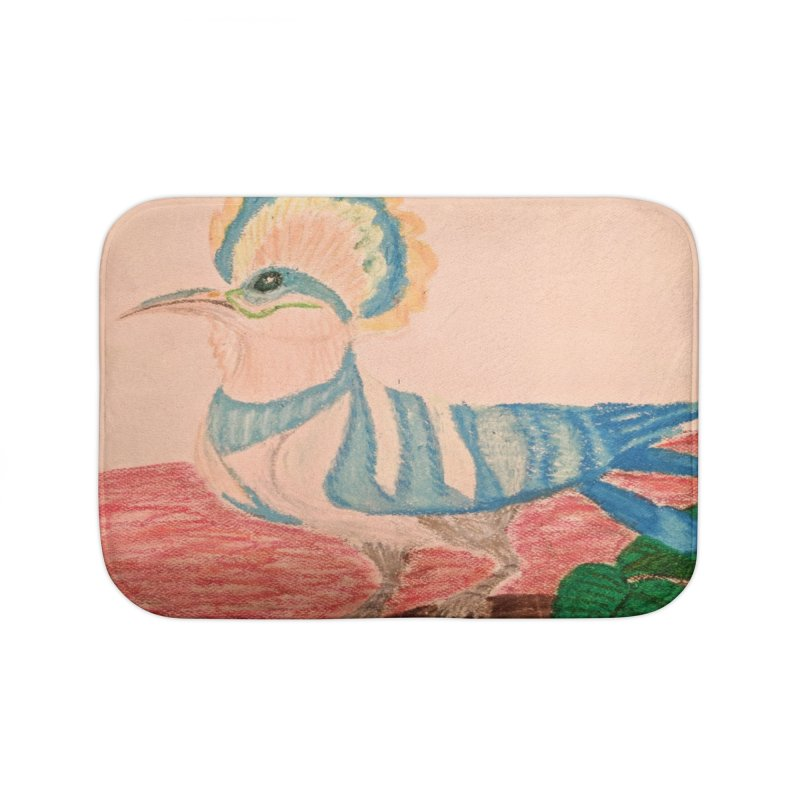 River Hoopoe Home Bath Mat by Whimsical Wildlife Wares