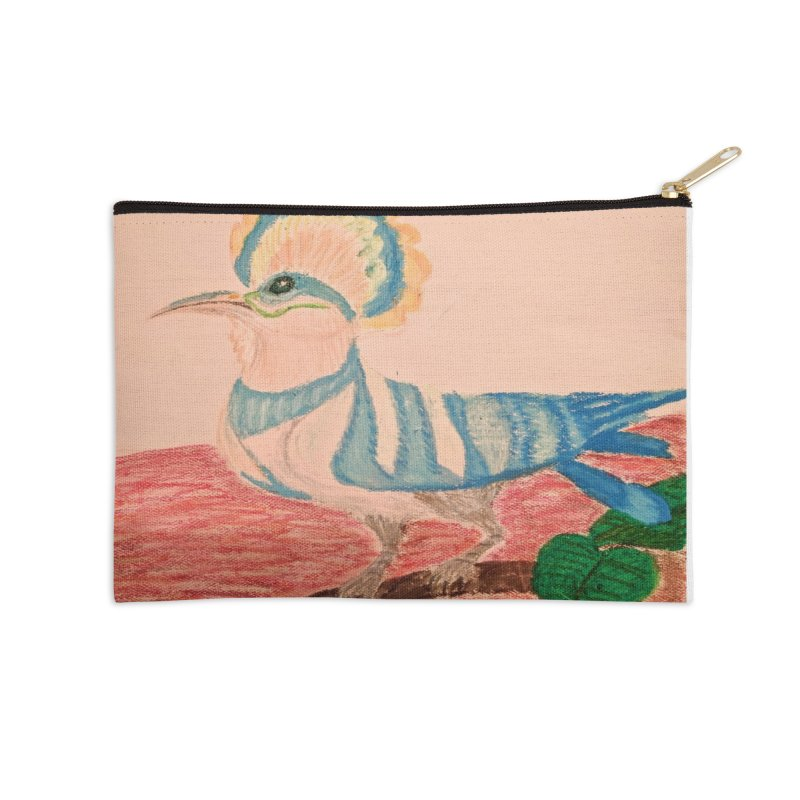 River Hoopoe Accessories Zip Pouch by Whimsical Wildlife Wares