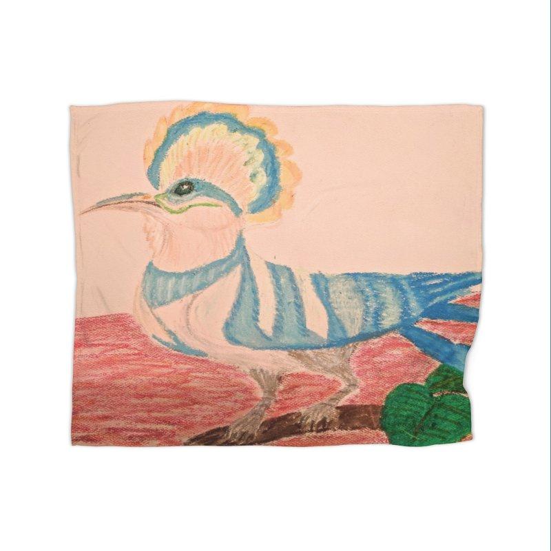 River Hoopoe Home Blanket by Whimsical Wildlife Wares