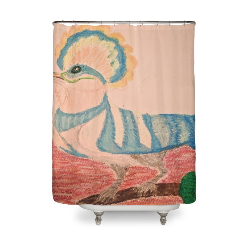 River Hoopoe Home Shower Curtain by Whimsical Wildlife Wares
