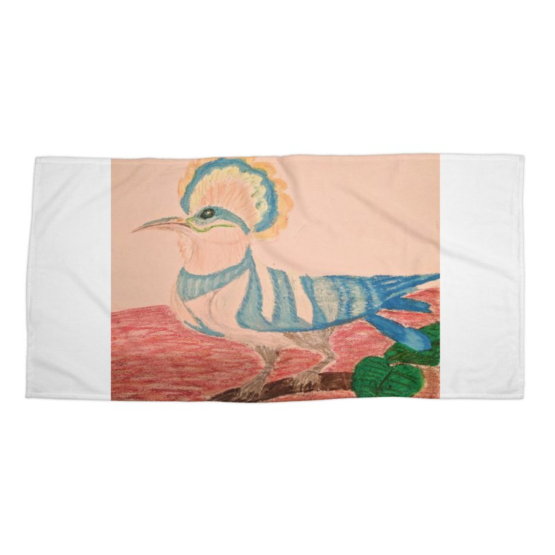 River Hoopoe Accessories Beach Towel by Whimsical Wildlife Wares