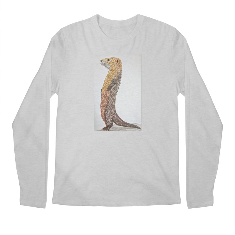 Otter Sentinel Men's Longsleeve T-Shirt by Whimsical Wildlife Wares
