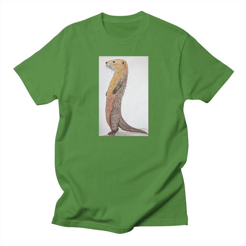 Otter Sentinel Men's T-Shirt by Whimsical Wildlife Wares
