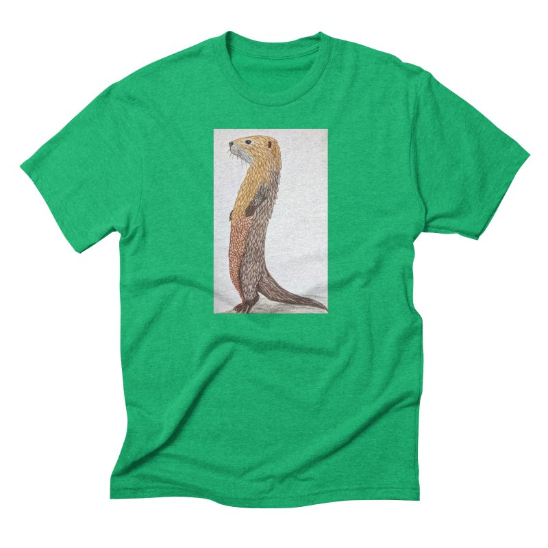 Otter Sentinel Men's Triblend T-Shirt by Whimsical Wildlife Wares