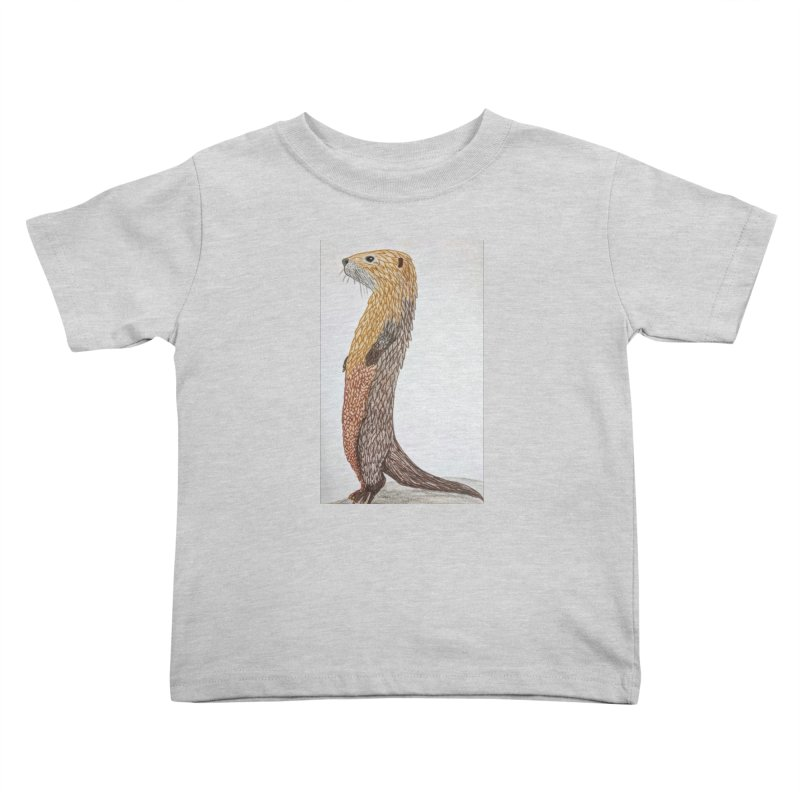 Otter Sentinel Kids Toddler T-Shirt by Whimsical Wildlife Wares