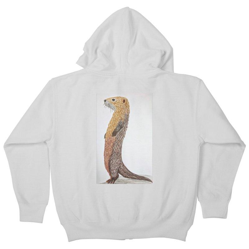 Otter Sentinel Kids Zip-Up Hoody by Whimsical Wildlife Wares