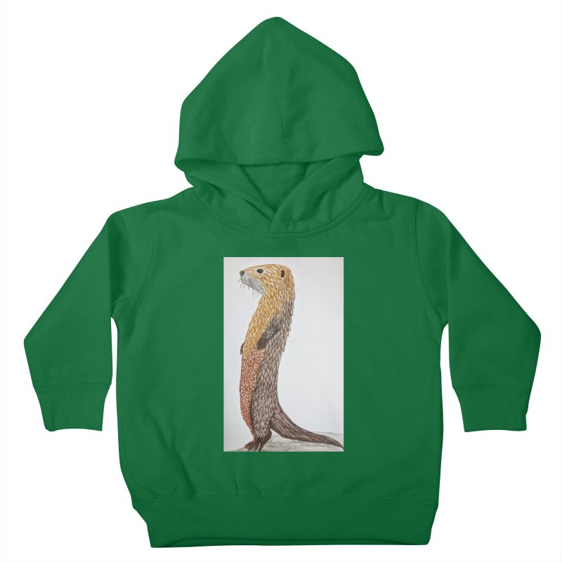 Otter Sentinel Kids Toddler Pullover Hoody by Whimsical Wildlife Wares