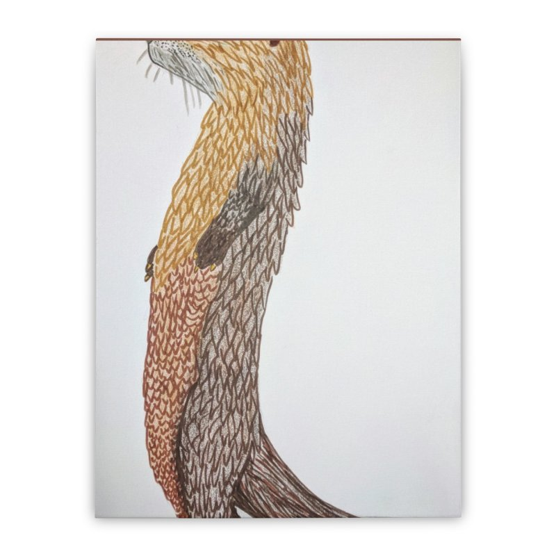 Otter Sentinel Home Stretched Canvas by Whimsical Wildlife Wares