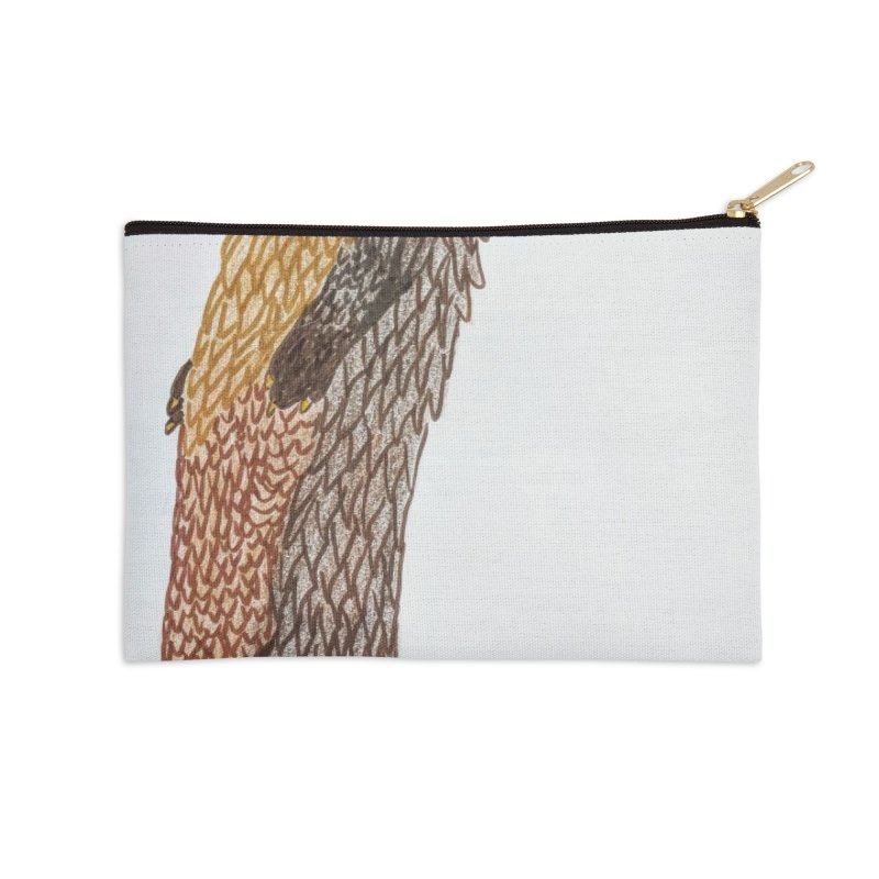 Otter Sentinel Accessories Zip Pouch by Whimsical Wildlife Wares