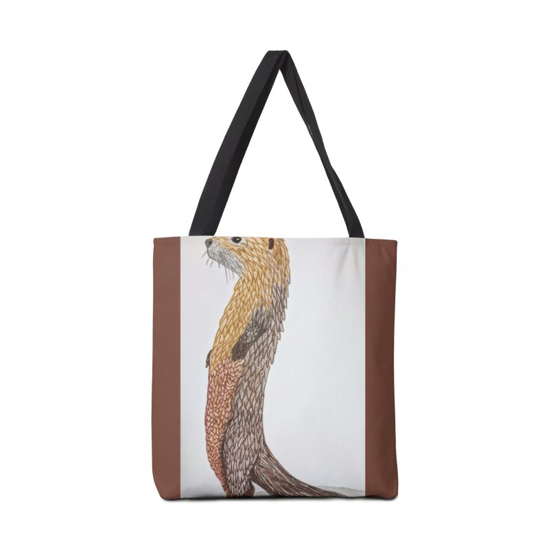 Otter Sentinel Accessories Bag by Whimsical Wildlife Wares