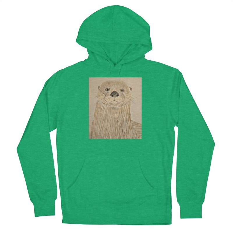 Otter Men's Pullover Hoody by Whimsical Wildlife Wares