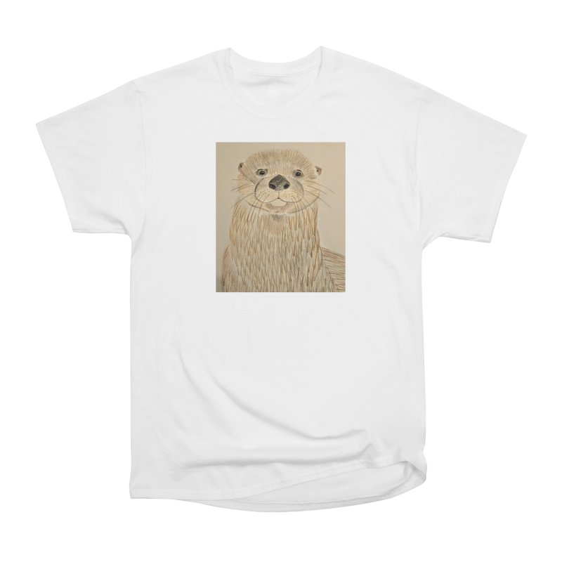Otter Women's Heavyweight Unisex T-Shirt by Whimsical Wildlife Wares