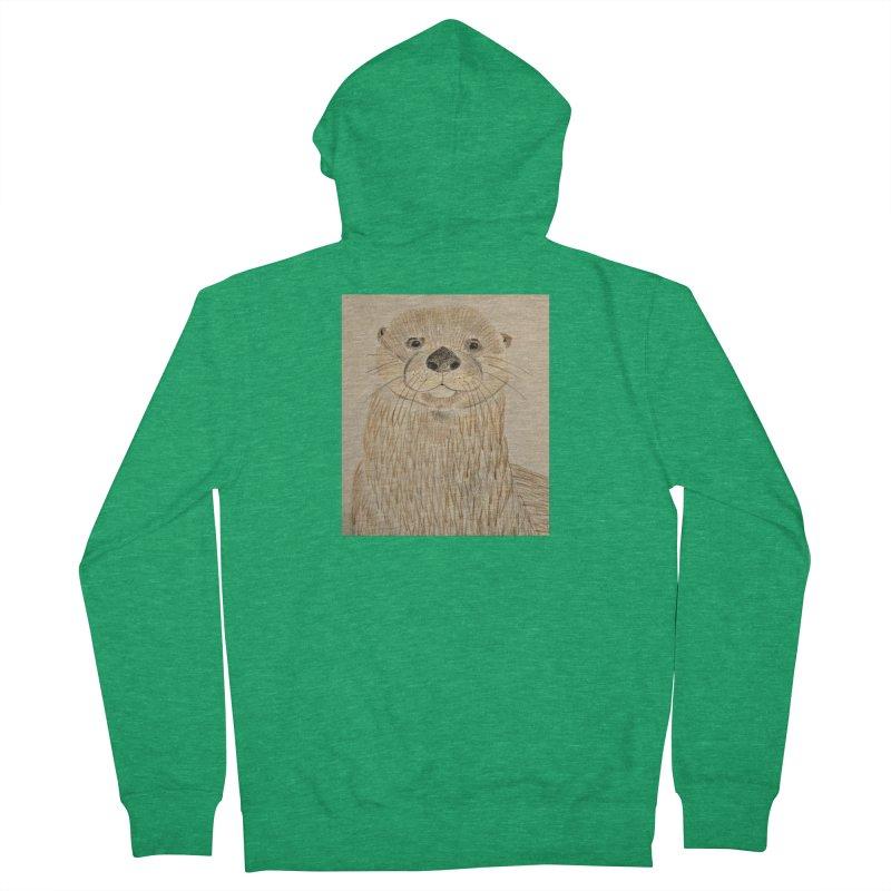 Otter Men's Zip-Up Hoody by Whimsical Wildlife Wares