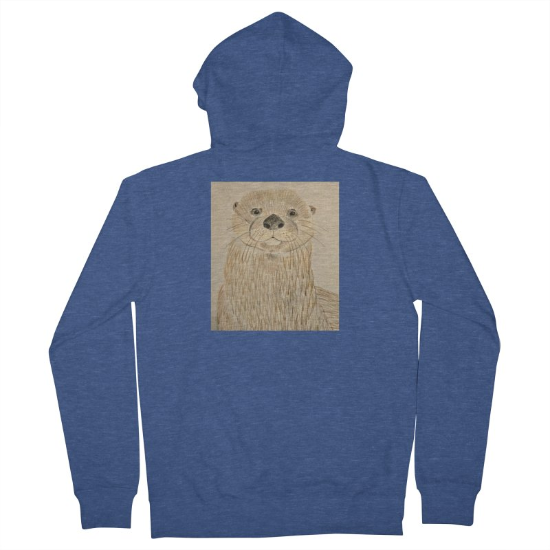 Otter Men's Zip-Up Hoody by Whimsical Wildlife Wares