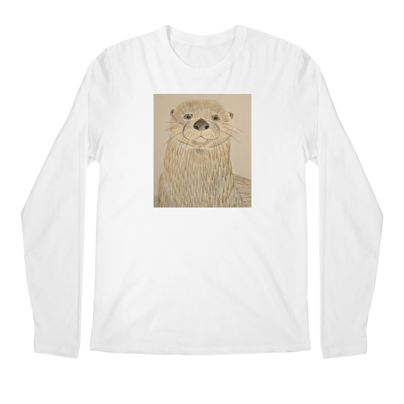 Otter Men's Longsleeve T-Shirt by Whimsical Wildlife Wares